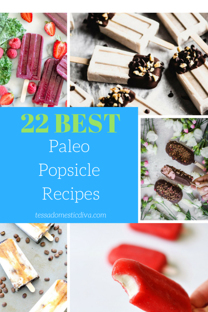 optimized for pinterest collage of 5 paleo popsicles