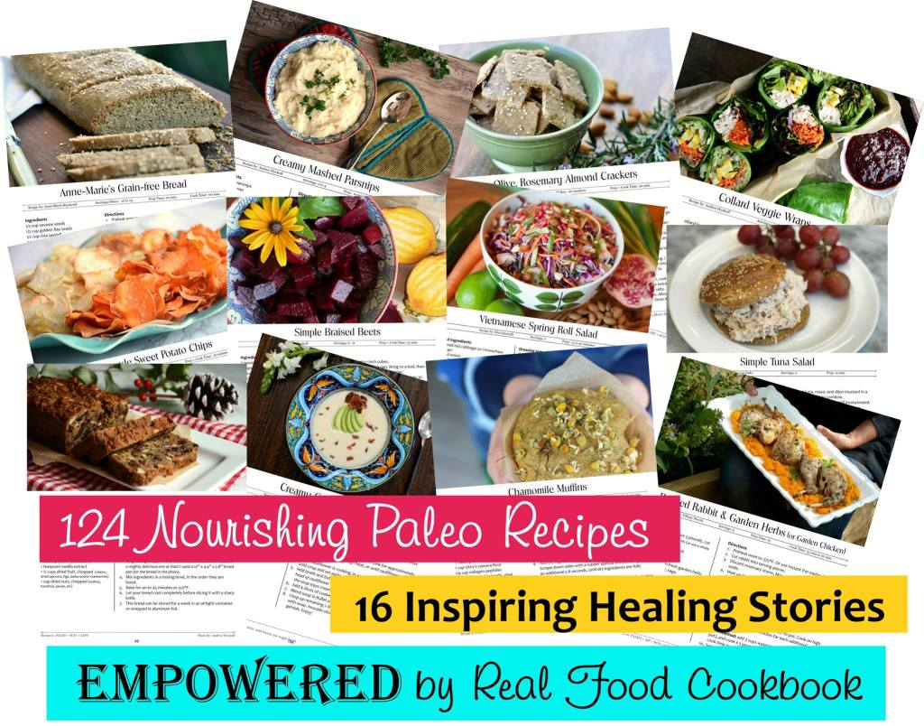 empowered by real food cookbook recipe collage