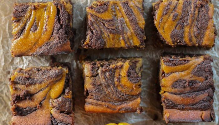 Swirled Pumpkin Chocolate Brownies – Paleo