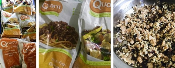 Monggo sprouts with Quorn meat-free chunks