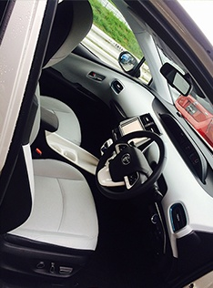 Faux-leather interior