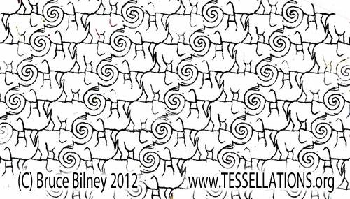 Bruce Bilney's Tessellation of Elephants: