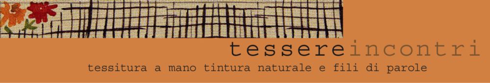 Tessere incontri corsi di tessitura a mano corsi tintura naturale vendita telai Ashford