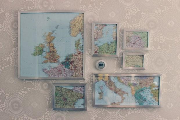 landkaart in lijstjes