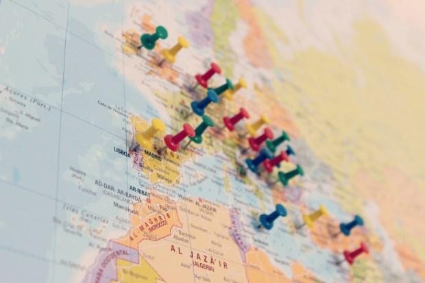 landkaart prikkers