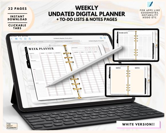 Undated Digital planners The Daily planners