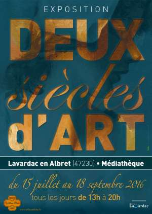 """Jusqu'au 18 septembre 2016, """"Deux Siècles d'art"""" à la médiathèque  avec l'Association William Blake Nérac France"""