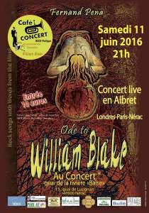 "Fernand Pena en Concert live : "" Ode to William Blake """