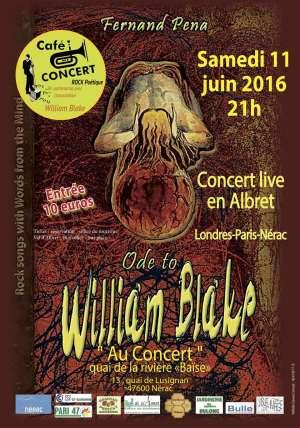 Nérac : deux soirées dédiées à William Blake