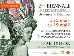 2ème Biennale internationale de la gravure et de l'estampe à Aiguillon