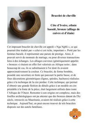 Bracelet de cheville Nga Nqbli