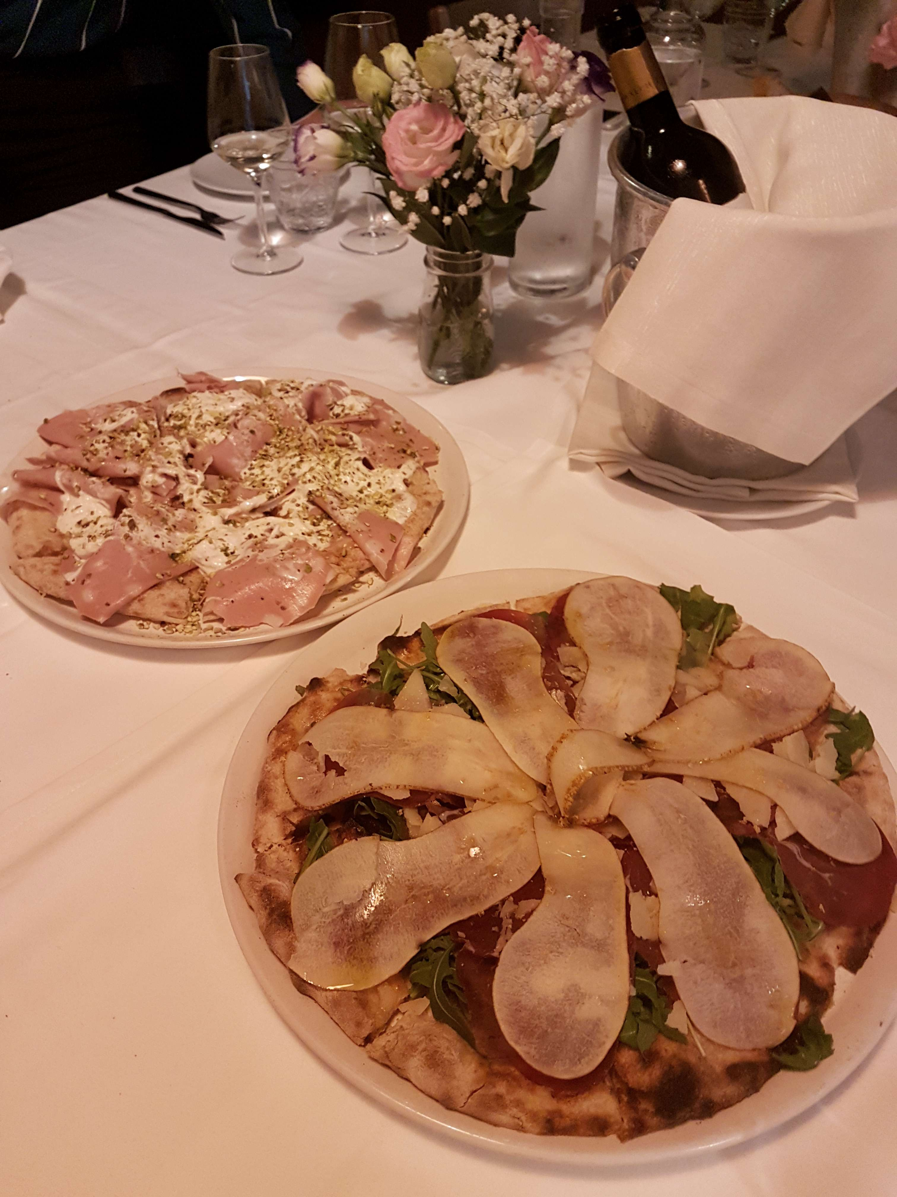 Tivoli restaurant La Fornarina serves exceptional gourmet food as well as pizzas and Roman classics, a short drive from Rome, Italy