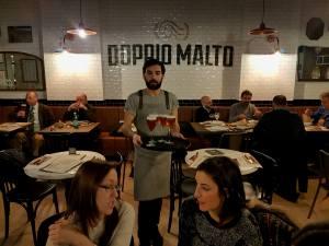 Doppio Malto in Rome, a new brew restaurant near the Trevi fountain