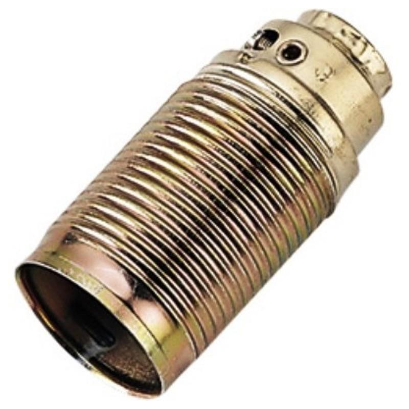 Portalampada E14 metallo ottonato filettatura