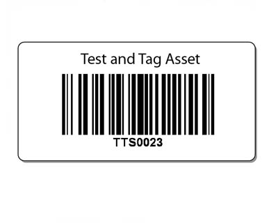 Barcode labels : Test and Tag Supplies, Test and