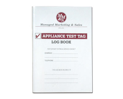 Log Books : Test and Tag Supplies, Test and Measurement