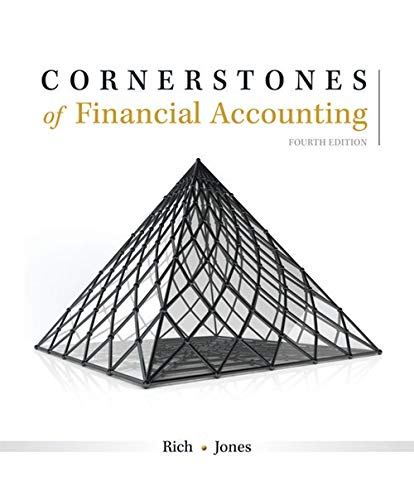 Test Bank For Cornerstones of Financial Accounting 4th