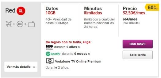 Vodafone Red XL