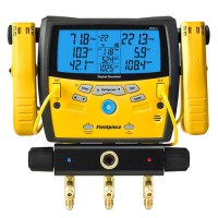 Fieldpiece SMAN340 Three-port Digital Manifold with Clamps ...