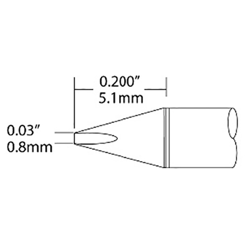 Metcal UFC-6CH5108S Ultrafine Soldering Cartridge, Chisel