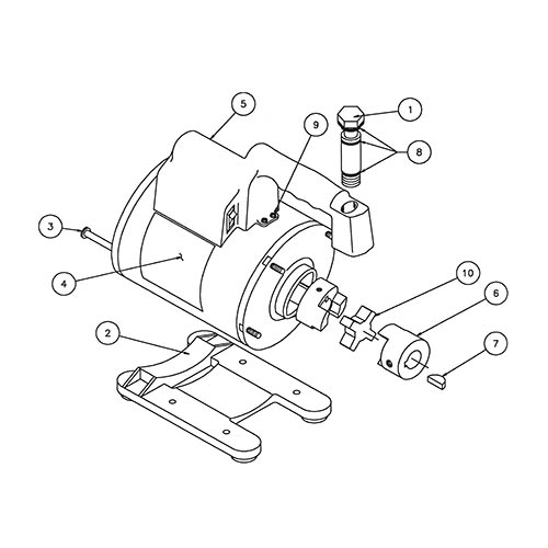 Robinair 15465 Replacement Motor and Handle Assembly for