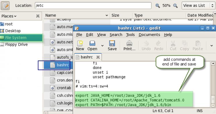 set environment variables in Fedora (Linux) TesterLogic