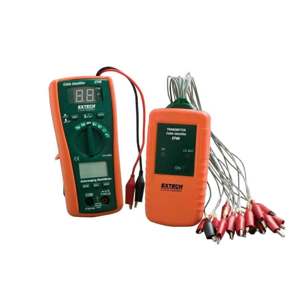 medium resolution of extech wire tracer circuit identifier testers and tools extech ct40 cable testing and identifier kit