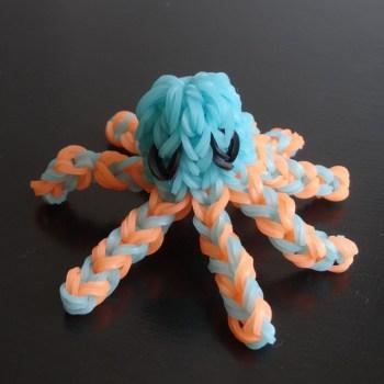 pieuvre octopus rainbow loom