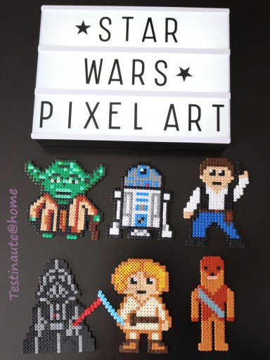 Personnages Star war perles Hama haut