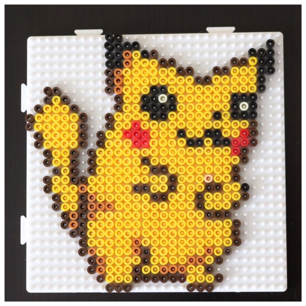 modèle pikachu en perles à repasser Hama