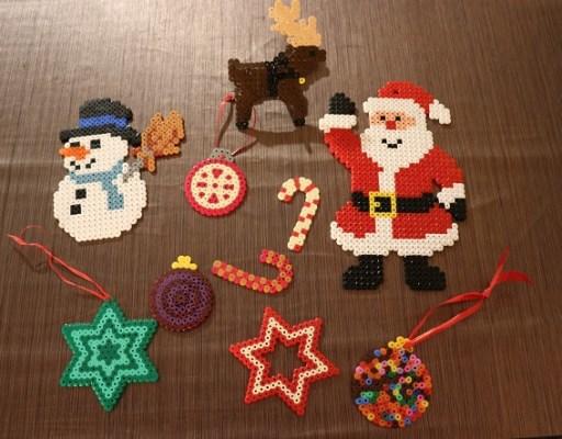 décoration de Noel en perles Hama