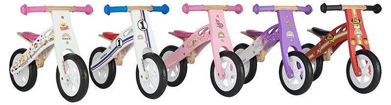 Bikestar Bicicleta de equilibrio infantil de madera para niños y niñas