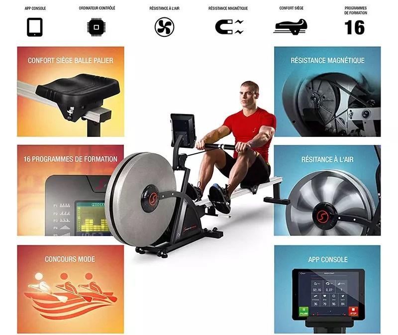 Ergómetro Sportstech Rower RSX400-RSX600
