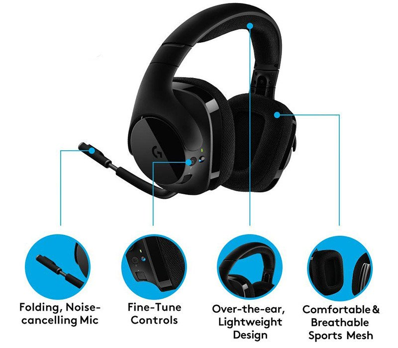 Logitech G533 - Casque Gaming sans Fil