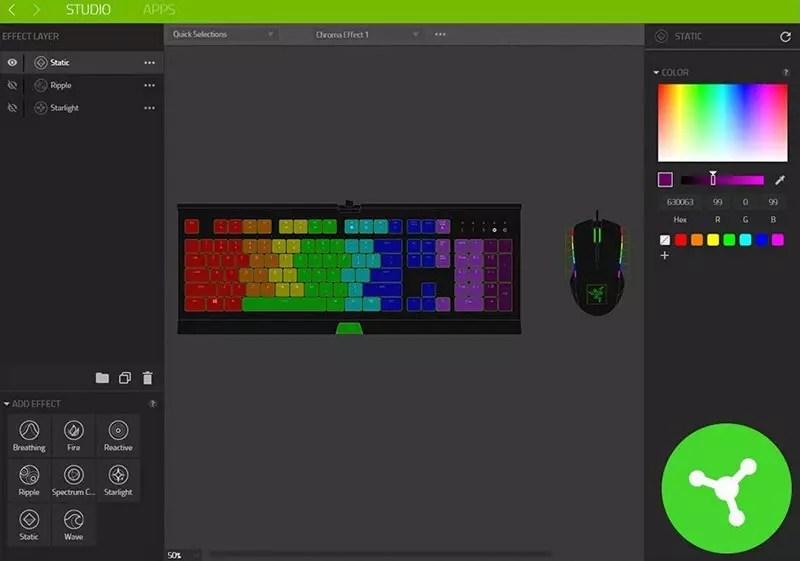 Razer Ornata Chroma: teclado para juegos con la nueva membrana Razer Mecha