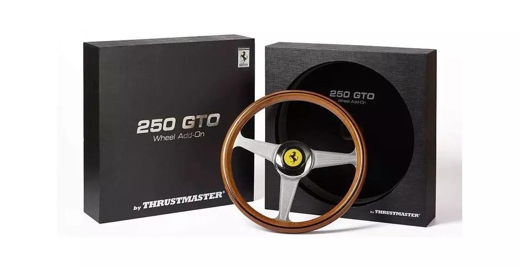 Thrustmaster Ferrari 250 GTO Wheel Add-On - Réplique 8-10 de l'emblématique volant de la Ferrari 250 GTO pour PC