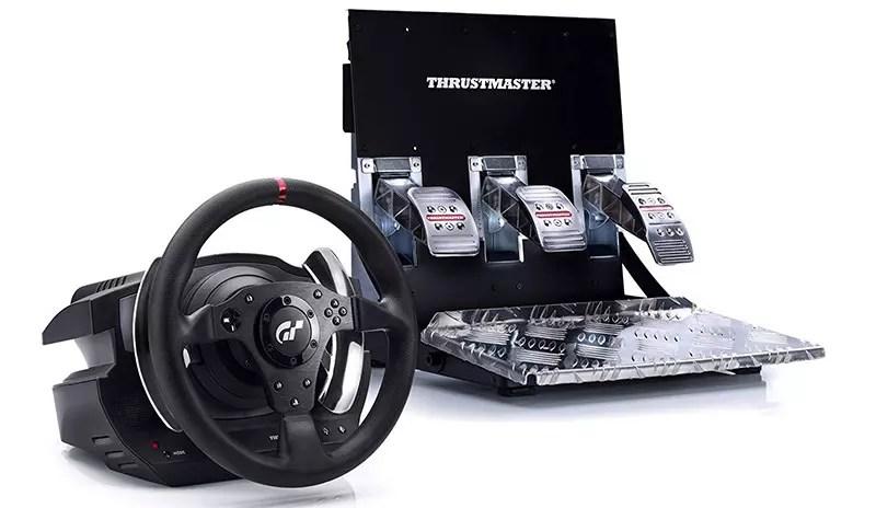 Thrustmaster T500RS Volante y pedales compatibles con PS3 y PC