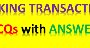 BANKING TRANSACTIONS MCQS WITH ANSWERS