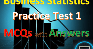 Business Statistics Mcqs with Answers 1