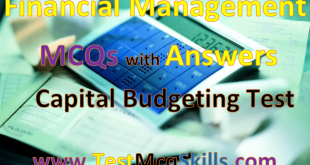 capital budgeting MCQs with Answers