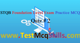 ISTQB_Foundation Level Exam Practice Questions 2019