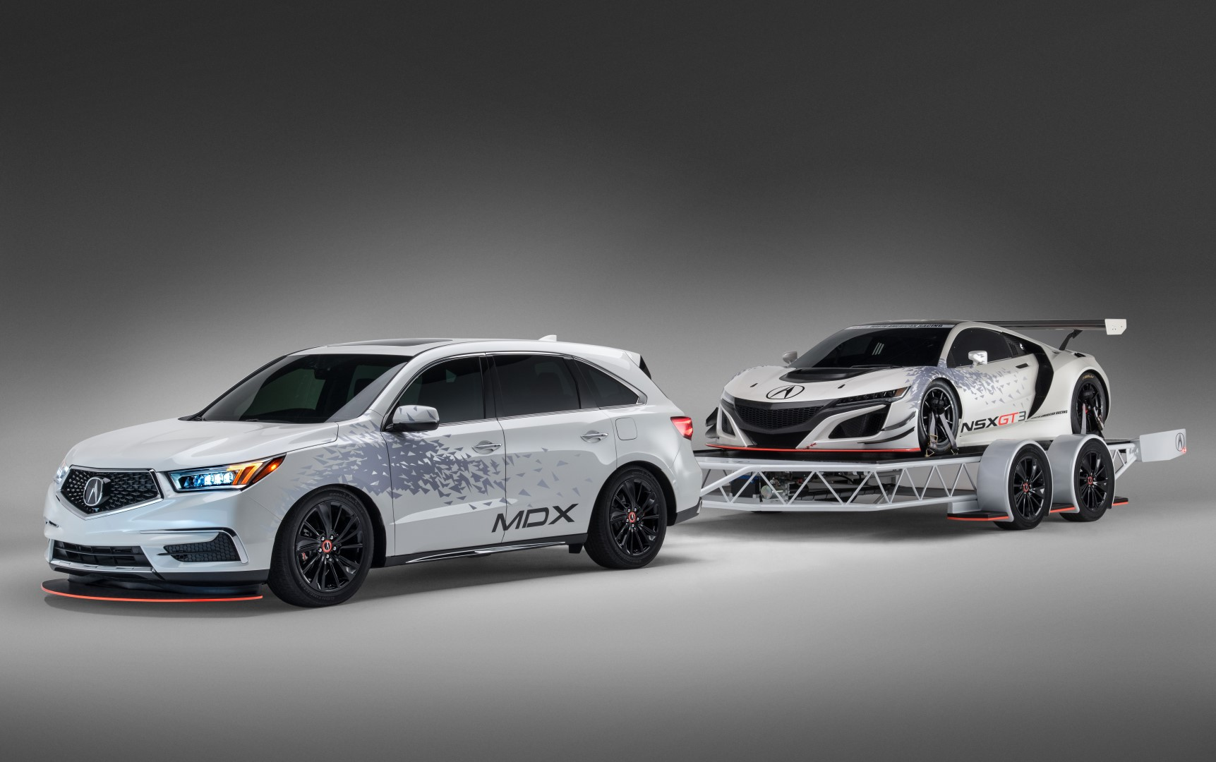 Acura Shows Off Matching MDX NSX And Race Trailer At SEMA - Acura mdx 20 inch wheels