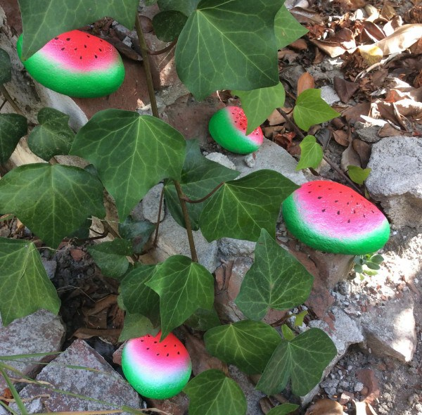 Watermelon Painted Rocks