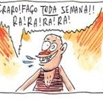 Cartunistas deixam de fazer piada por um dia para falar sério sobre câncer de próstata