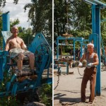 Conheça a academia de sucata a céu aberto na Ucrânia