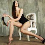 Ekaterina Lisina, a ex-jogadora de basquete quer ser considerada como a modelo mais alta do mundo