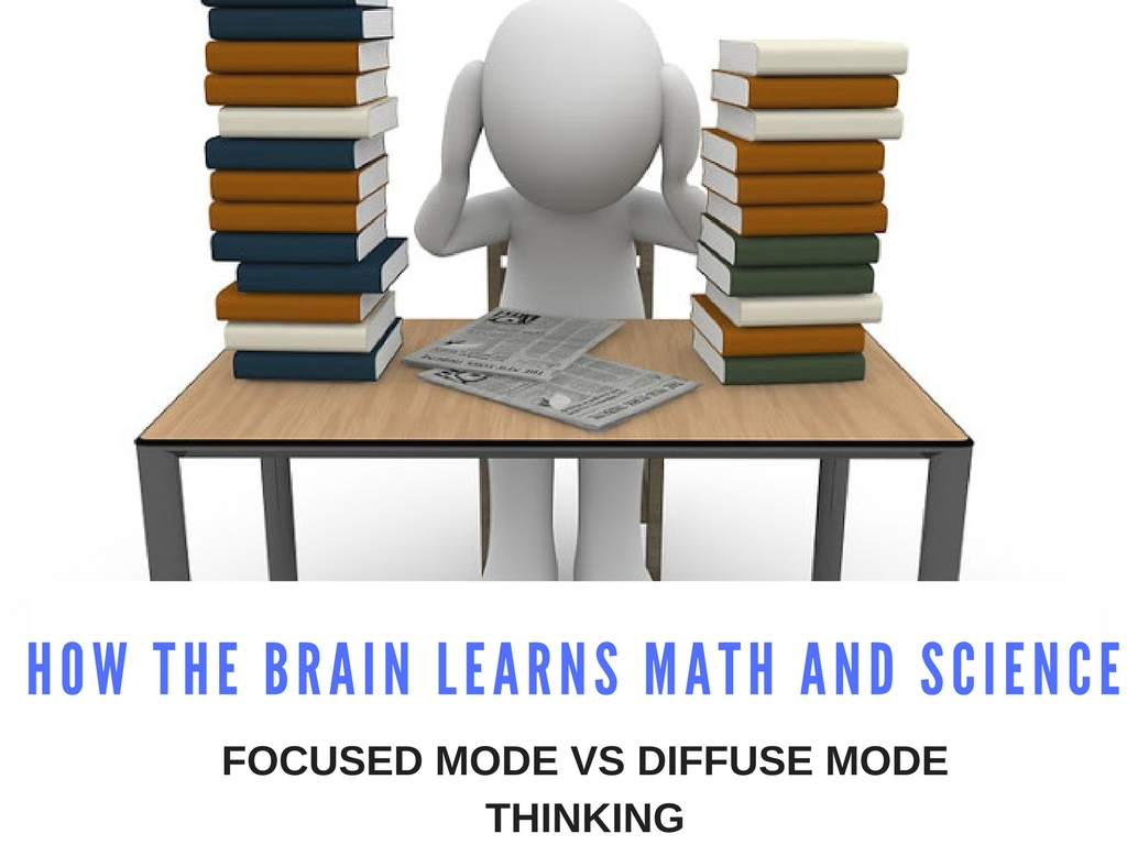 How The Brain Learns Math And Science Focused Mode Vs Diffuse Mode Thinking