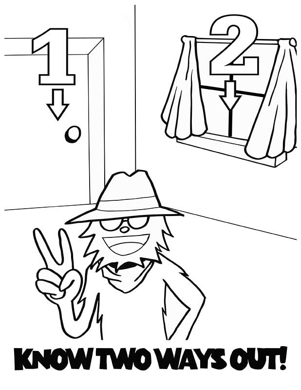 Fire Safety Coloring Booklet Coloring Pages