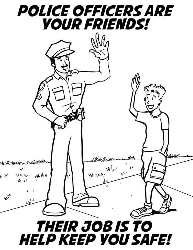crime prevention Colouring Pages