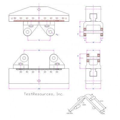ASTM D6415 Curved Beam Strength Fixture for Fiber